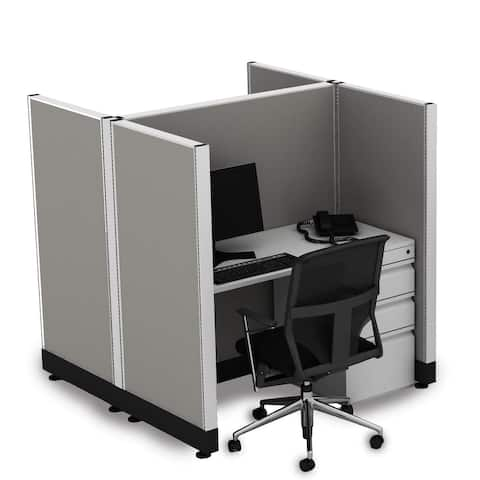 Office Cubicle Desk 53H 2pack Cluster Unpowered