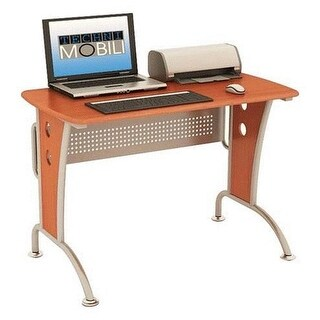 Techni Mobili RTA-8338-DH33 Computer Desk with CPU Caddy - Dark Honey