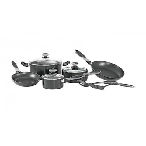 Mirro A797SA64 Cookware Set, Black, 10 Piece