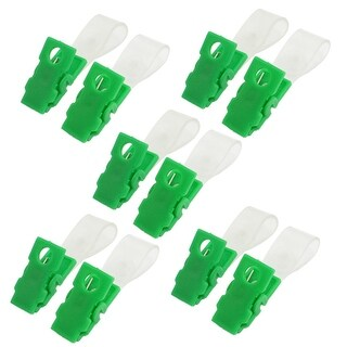 Unique Bargains 10 Pcs Plastic Retractable Badge Clip ID Card Name Tag School Office Bank Students Stationery Green