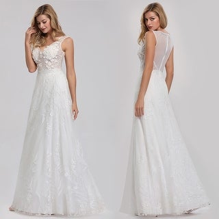 Ever-Pretty Womens Elegant A-Line Lace Long Bridal Gowns for Bride 07832