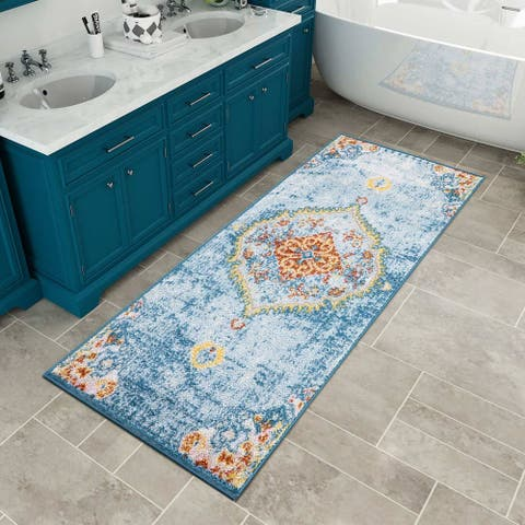 Modern & Contemporary Area Rugs Different Sizes Rugs Blue