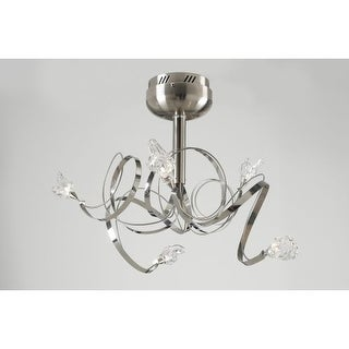 PLC Lighting PLC 6049 Semi-Flush Ceiling Fixture from the Ribbon Collection - Grey
