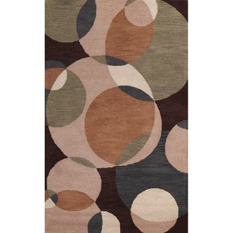"""Abstract Contemporary Oriental Wool Area Rug Hand-tufted Office Carpet - 5'0"""" x 8'0"""""""