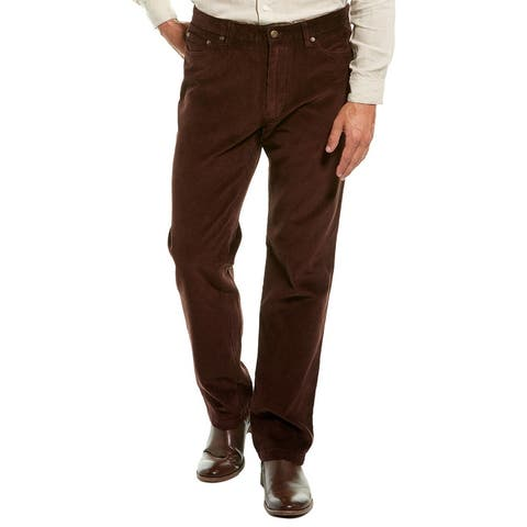 J.Mclaughlin Dex Chocolate Corduroy Straight Leg