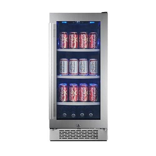 Avallon ABR151GRH 15 Inch Wide 86 Can Energy Efficient Beverage Center with LED Lighting, Double Pane Glass, Touch Control Panel