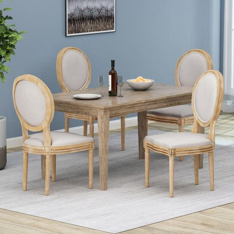 Phinnaeus French Country Dining Chairs (Set of 4) by Christopher Knight Home