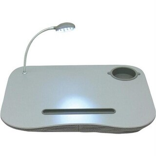 Laptop Desk With Built-In Cushion-LED Light And Cup Holder -
