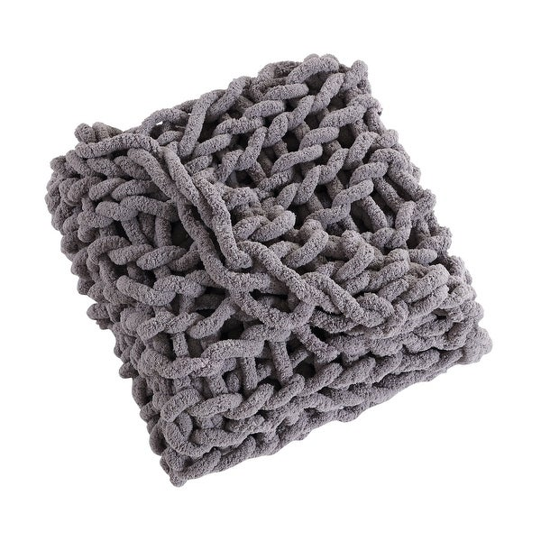 Asher Home Chunky Knit Chenille Throw Blanket. Opens flyout.