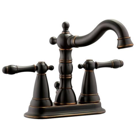 Design House 523282 1.5 GPM Centerset Bathroom Faucet - Oil Rubbed Bronze