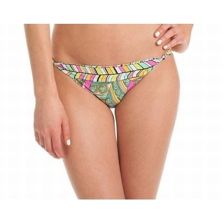 Trina Turk NEW Blue Pink Women's Size 8 Bikini Bottom Printed Swimwear