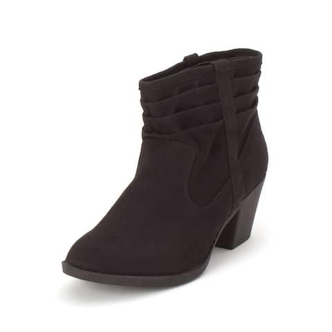 Arizona Jean Co Womens Garber Almond Toe Ankle Fashion Boots