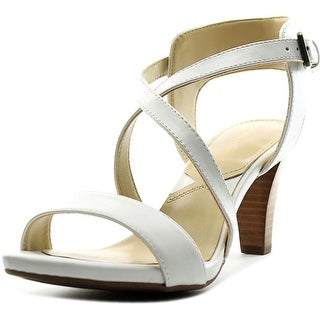 Adrienne Vittadini Briale Women Open Toe Leather White Sandals