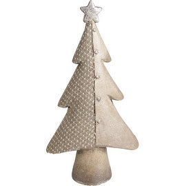 "15"" Brown Eco-Friendly Christmas Tree Decorative Christmas Tabletop Figure"