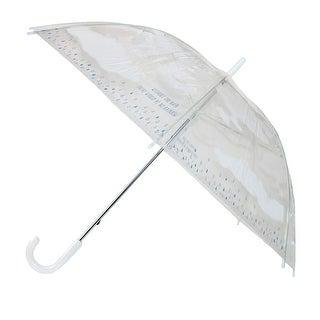 Time Concept Inc. Women's Happy Quote Clear Cloud Umbrella