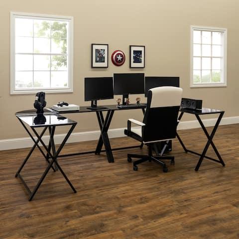 Porch & Den X-Frame Gaming Command Center Desks