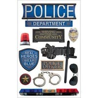 """Police - Paper House 3D Stickers 4.5""""X8.5"""""""