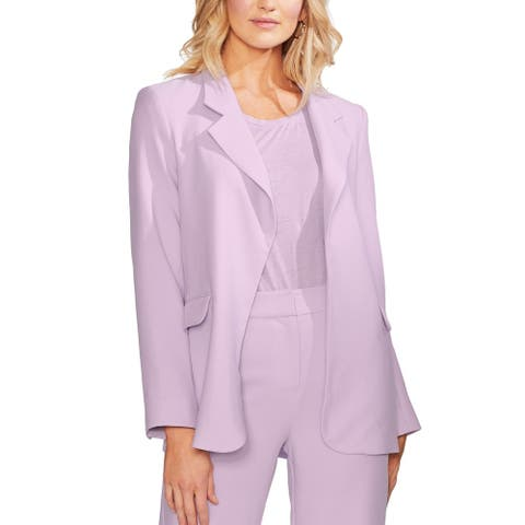 Vince Camuto Women's Jacket Purple Size 10 Notched-Collar Flyaway
