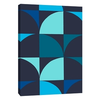 """PTM Images 9-108756  PTM Canvas Collection 10"""" x 8"""" - """"Monochrome Patterns 9 in Blue"""" Giclee Abstract Art Print on Canvas"""
