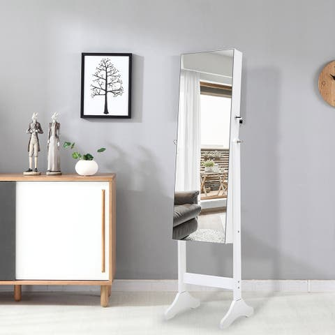 Bedroom Armoires Simple Jewelry Storage Mirror Cabinet With LED Lights