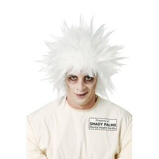 Shock Treatment Mad Scientist White Costume Wig