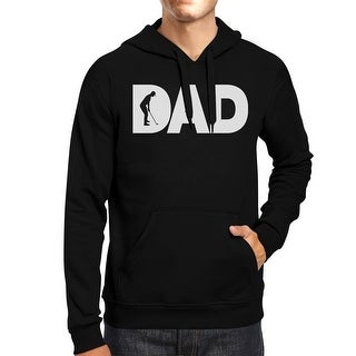 Dad Golf Unisex Black Hoodie Funny Design Graphic Tee For Gold Dads