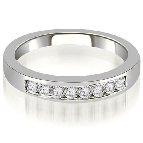 0.30 cttw. 14K White Gold Channel Set Round Cut Diamond Wedding Band