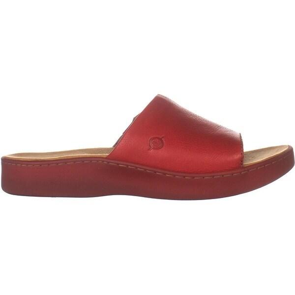 Red Born Ottawa Platform Slide Sandals