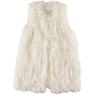 Rachel Rachel Roy Womens Faux Fur Collarless Vest