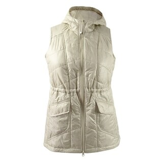 Style & Co. Women's Plus Size Hooded Puffer Vest (2X, Pure Cashmere)
