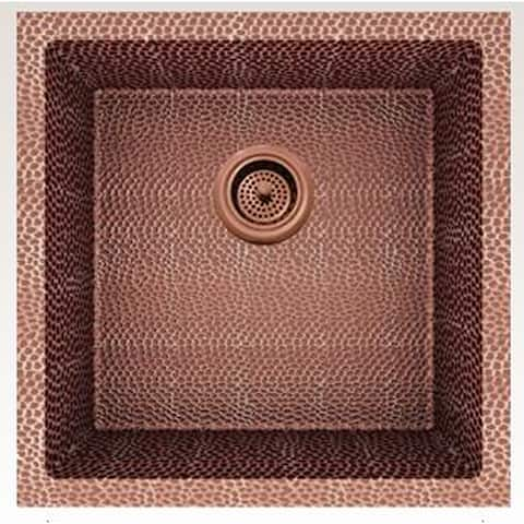 American Imaginations 17-in. W CSA Approved Rose Copper Kitchen Sink With Copper Finish And 16 Gauge - 17