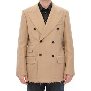 Dolce & Gabbana Dolce & Gabbana Beige Double Breasted Coat Jacket