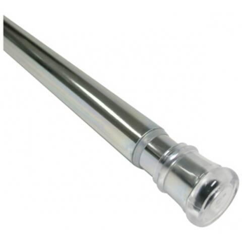 """Zenith 512S TwistTight Adjustable Tension Shower Stall Rod, Chrome, 24""""-40"""""""