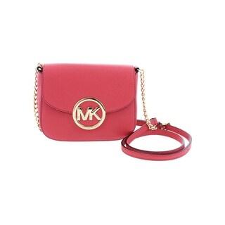 6e7b9df7ddb4 ... australia michael michael kors womens fulton crossbody handbag pebbled  flap small 3d195 45608