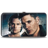 Winchester Brothers Close Up + Supernatural Logo Black Grays Hinged Wallet - One Size Fits most