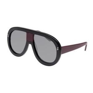 Sc0032S 001 Black Frame Sunglasses With Silver Lenses