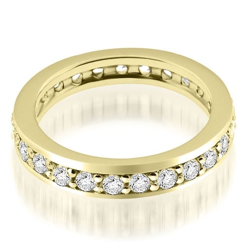 1.50 cttw. 14K Yellow Gold Classic Round Cut Diamond Eternity Band Ring