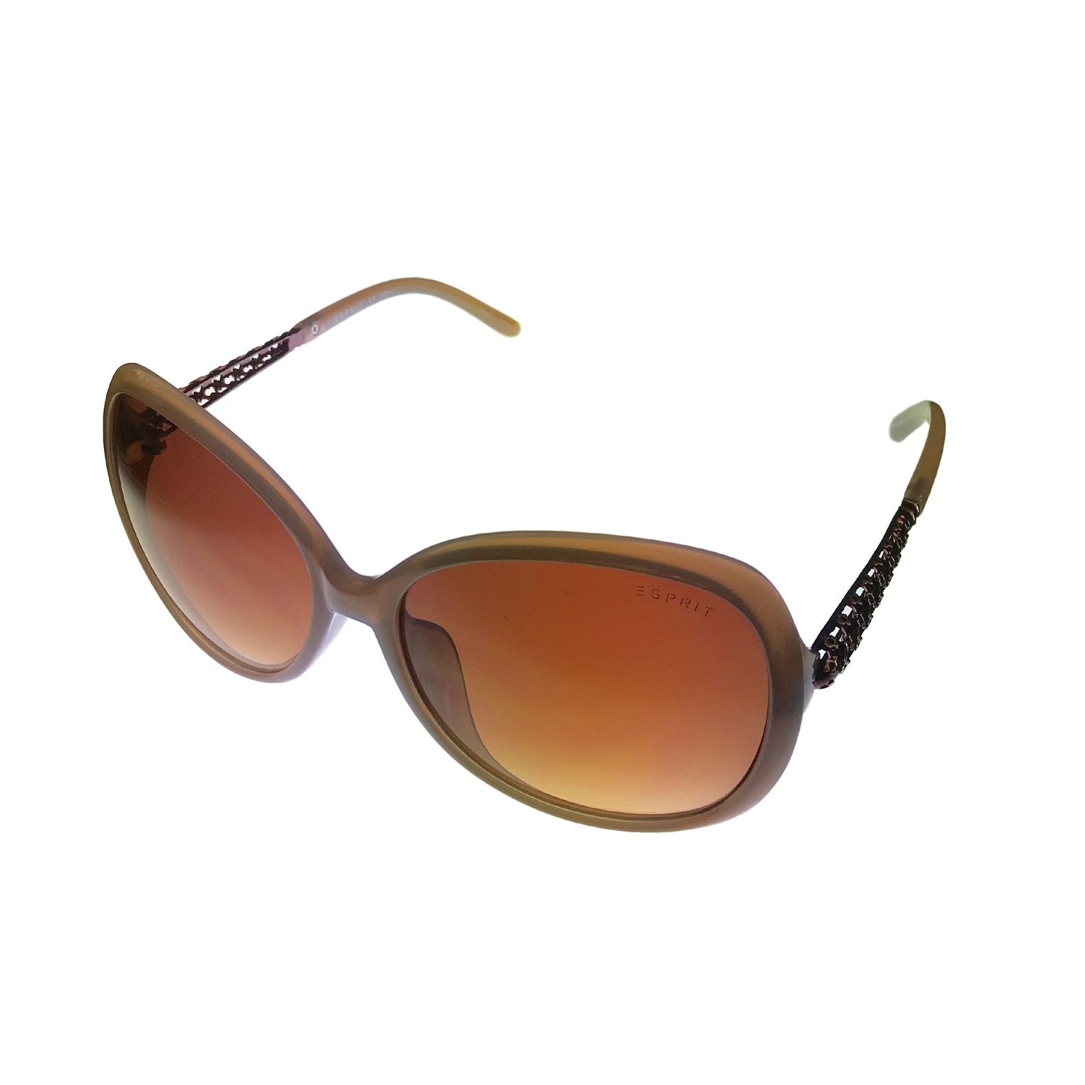 Esprit Womens Fashion Taupe Oversized Rectangle Plastic Sunglass ET19454 565 - Thumbnail 0