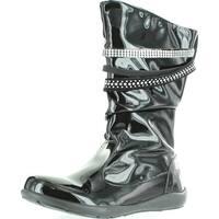 Primigi Girls Charlize Fashion Strappy Patent Boots - Black