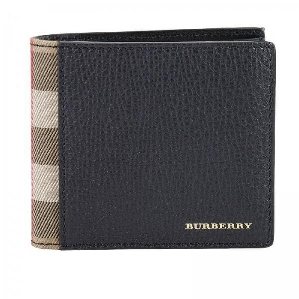 353c5efa7cbc Burberry men  x27 s genuine leather wallet credit card bifold tartan house  check black