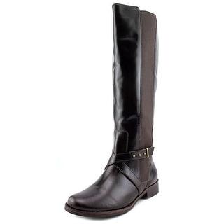 Steven Steve Madden Sydnee Wide Calf Round Toe Leather Knee High Boot