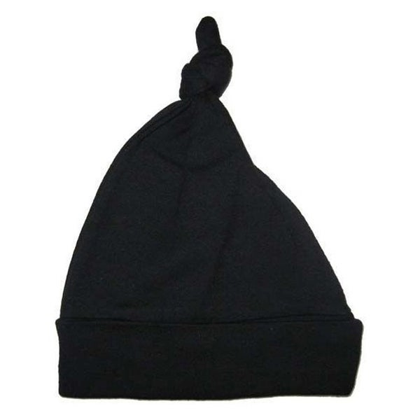Black Knotted Baby Cap - Size - One Size - Unisex
