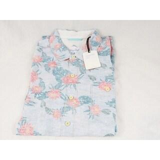 Tommy Bahama Tamari Breezer Blue Isles Size Medium Silk Camp Shirt