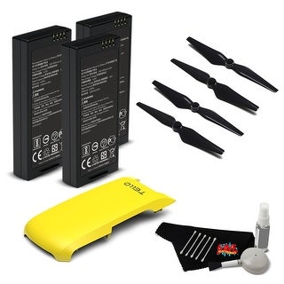 Ryze Tech Battery for Tello + Ryze Tech Snap-On Cover for Tello (Yellow) + Ryze Tech Propeller Guards for Tello (4-Pack) Bundle