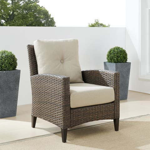 Rockport Outdoor Wicker High Back Arm Chair