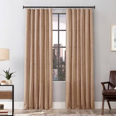 Scott Living Delton Stonewashed Cotton Semi-Sheer Ring Top Curtain Panel, Single Panel