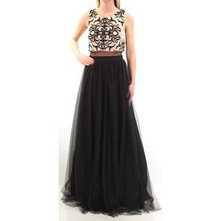 Womens Black Sleeveless FullLength Formal Dress Size: 2