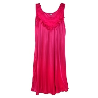 CTM® Women's Lace Front Sleeveless Nightgown