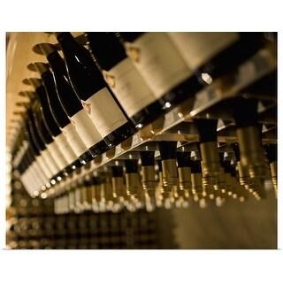 """""""Racks of wine bottles"""" Poster Print"""