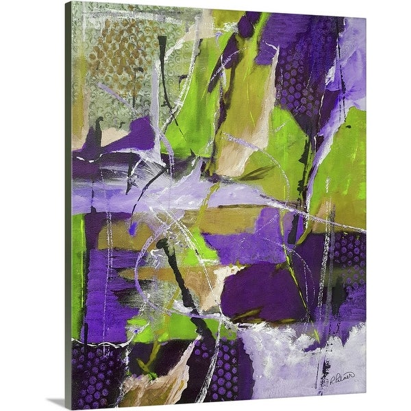 """""""Rough And Tumble Lime Purple"""" Canvas Wall Art"""